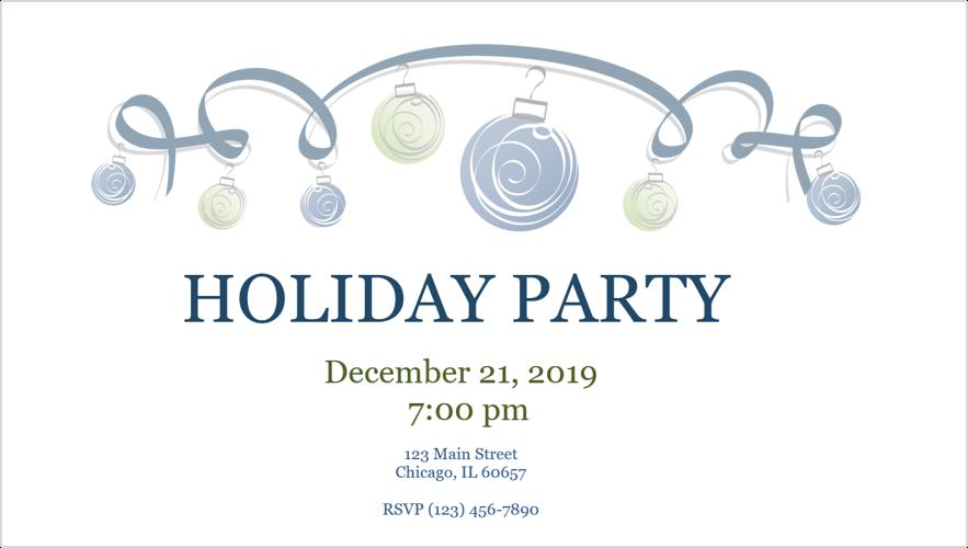 Obraz zaproszenia na przyjęcie świąteczne