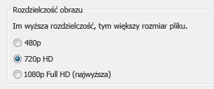 Zrzut ekranu przedstawiający opcje audio