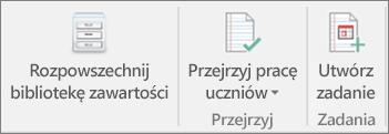 Wiersz ikon z pozycją Rozpowszechnij bibliotekę zawartości