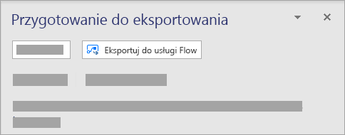 W sekcji Microsoft Flow na karcie proces wybierz pozycję Eksport.