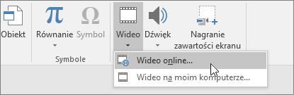 Dodawanie klipów wideo do slajdów