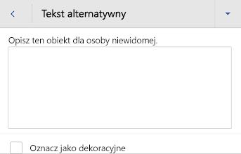 Okno dialogowe tekst alternatywny obrazu w programie Word dla systemu Android