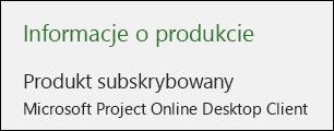 Informacje o projekcie dla klienta komputerowego usługi Project Online