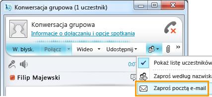 Zaproś pocztą e-mail