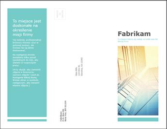 Szablon broszury w aplikacji PowerPoint Online