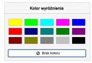 Kolory wyróżnienia