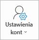 Przycisk Ustawienia kont w programie Outlook