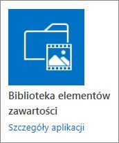 Kafelek biblioteki elementów zawartości