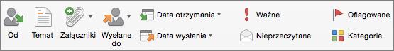 Przyciski opcji wyszukiwania