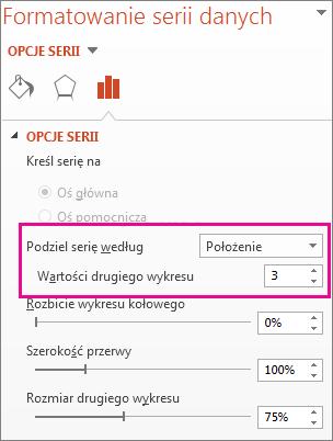 Pole Podziel serię według w okienku Formatowanie serii danych