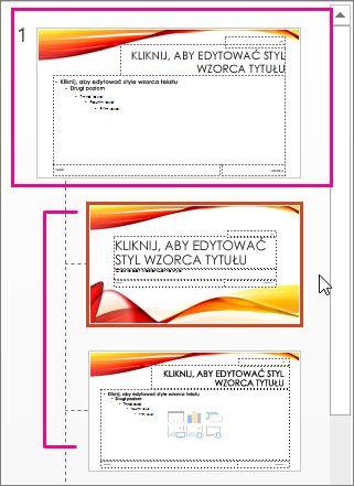 Wzorzec slajdów i dwa układy