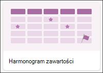 Szablon listy harmonogram zawartości