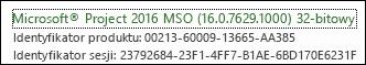 Numer kompilacji klienta komputerowego usługi Project Online