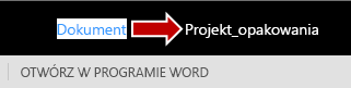 Zmienianie nazwy pliku aplikacji Word Online