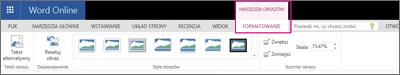 Karta Narzędzia obrazów > Formatowanie
