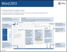Przewodnik Szybki start dla programu Word 2013