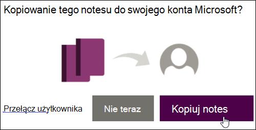 Kopiowanie notesu