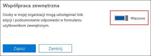 Ustawienie współpracy Microsoft Forms