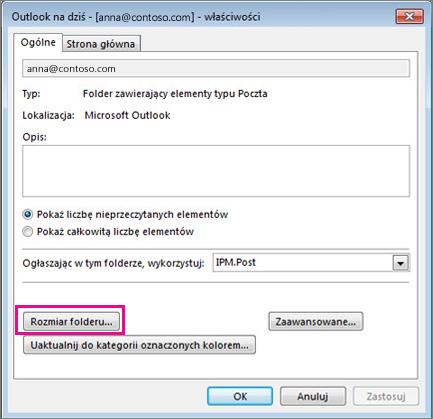 Właściwości folderu