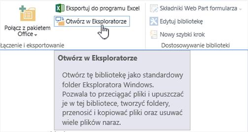 SharePoint 2016 Otwórz w Eksploratorze w IE11