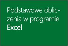 Podstawowe obliczenia w programie Excel 2013