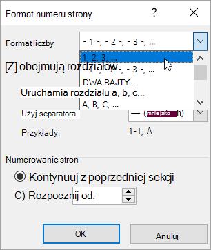 Wybieranie formatu liczb