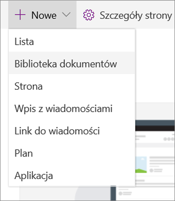 SPO Wybór listy lub biblioteki