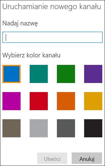 Pozycja Utwórz kanał w portalu Wideo w usłudze Office 365