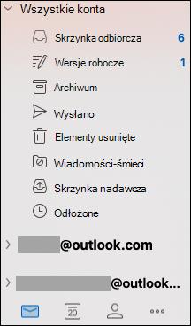 Ujednolicona Skrzynka odbiorcza w programie Outlook dla komputerów Mac.