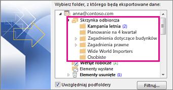 Foldery poczty e-mail