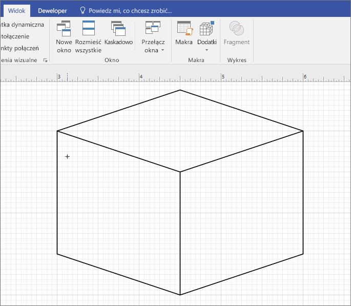 Narysuj kształt ręcznie za pomocą narzędzia Linia.