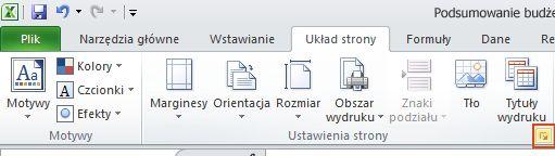 Click to display the Page Setup dialog box.