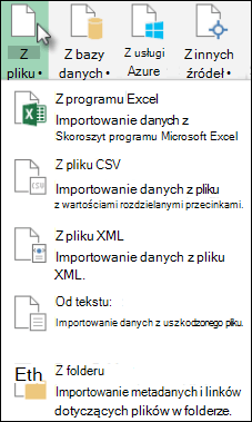 Okno dialogowe Power Query z pliku