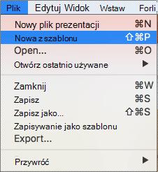 Strona szablony w programie PowerPoint dla komputerów Mac
