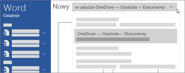Nowa usługa OneDrive