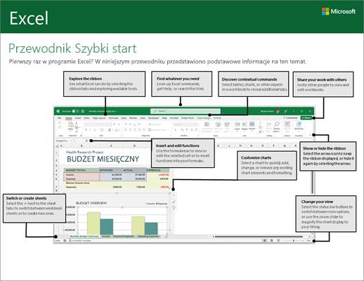 Przewodnik Szybki start dla programu Excel 2016 (Windows)