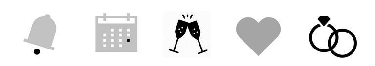 Ilustracje ikon weselnych