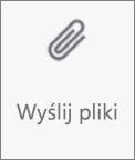 Przycisk Wyślij pliki w usłudze OneDrive dla systemu Android
