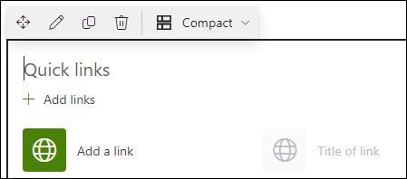 Składnik web part szybkie łącza
