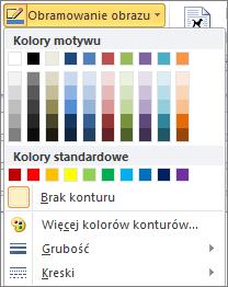 Outlook 2010 picture borders menu