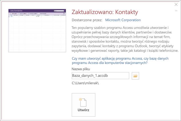 Zrzut ekranu przedstawiający interfejs listy kontaktów