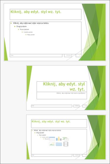 Wzorzec slajdów z dwoma układami slajdów