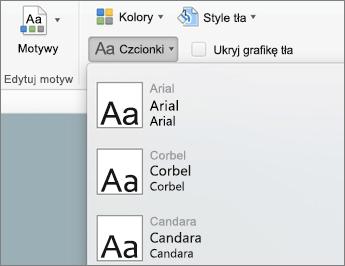 Na karcie wzorzec slajdów kliknij przycisk czcionki