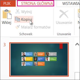 Kopiowanie slajdu