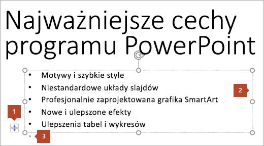 Tekst slajdu z symbolem zastępczym