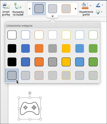 Edytowanie graficznego stylu ikony