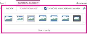 Dodaj obramowanie, wybierając kartę Formatowanie, a następnie wybierając pozycję Style obrazów
