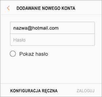 Adres e-mail i hasło