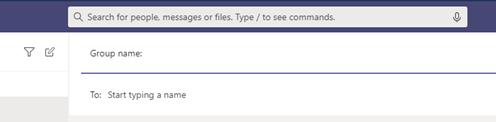 Nadawanie czatowi grupowemu nazwy w aplikacji Teams.