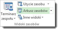 Obraz arkusza zasobów